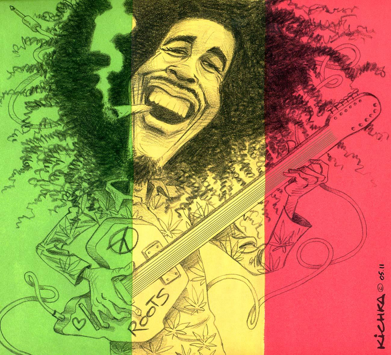 Bob Marley Died 30 Years Ago Michel Kichka
