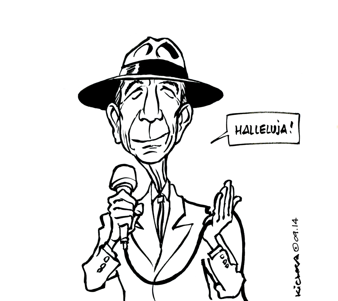 Image result for leonard cohen drawing